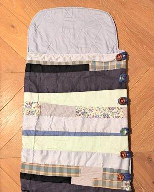 Bluish mosaic baby sleeping bag