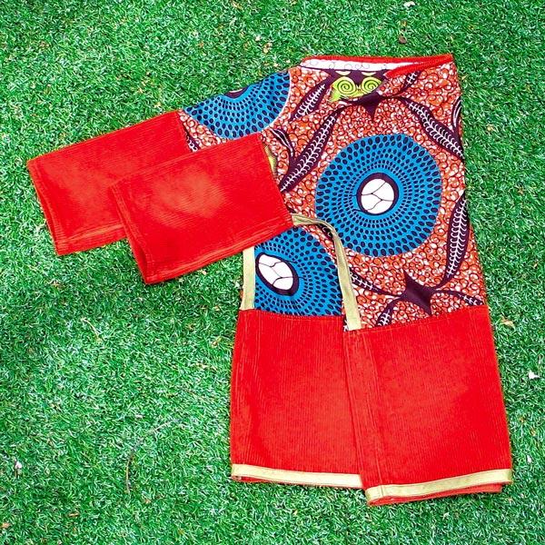 African dark orange long sleeved shirt
