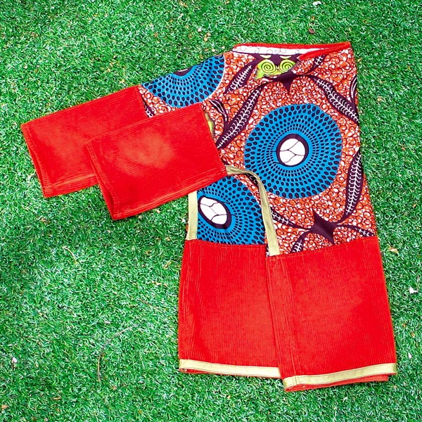 African dark orange long sleeved shirt
