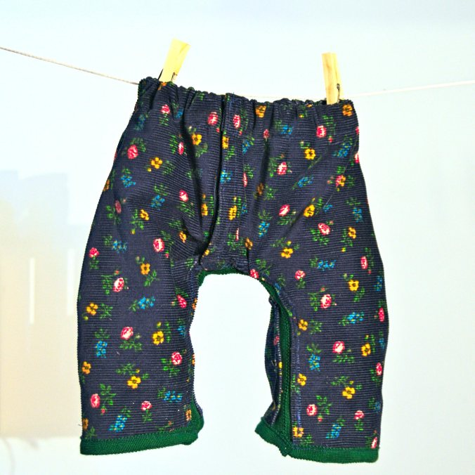 Blue corduroy with polar fleece lining baby trousers