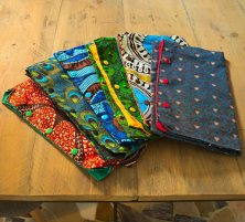 African wax fabric bags for shoes
