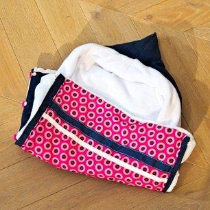 Pink shwe-shwe fabric baby sleeping bag