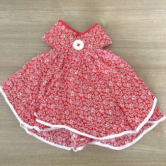 Red-flowers-button-flare-baby-kid-dress
