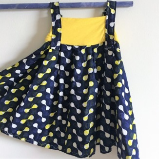 Navy-yellow-africanfabric-flare-baby-kid-dress-Reverse