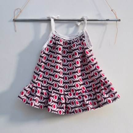 Baby kids sleeveless dress in purple and pink african fabric