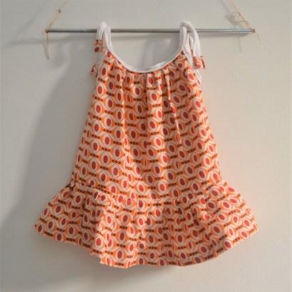 Baby-kid-summer-sleeveless-dress-africanfabric-orange