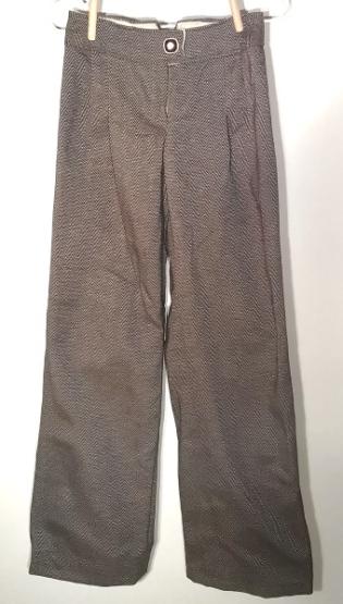 Brown-winter-jackquard-trousers