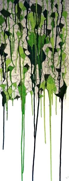 Mixed media acrylic paint