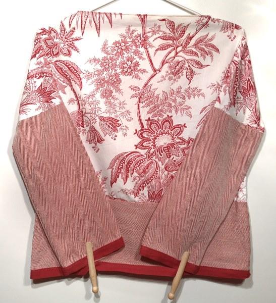 Red-white-vegetation-pattern-shirt